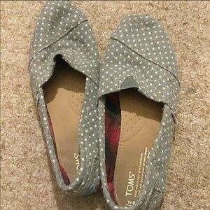 GUC - Grey Wool polka dot Toms